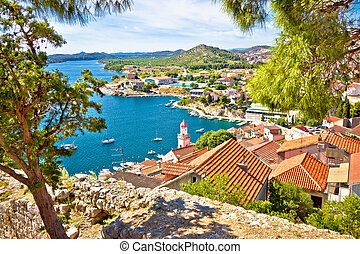 City of Sibenik coast view, Dalmatia, Croatia
