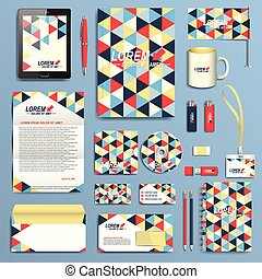Set of vector corporate identity template. Modern business stationery design