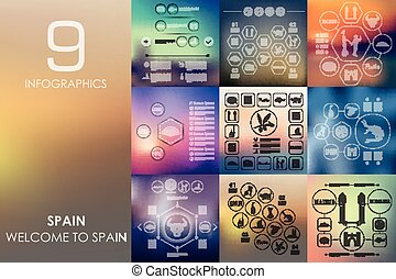 Spain infographic with unfocused background - Spain vector...