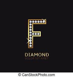 Golden Letter F