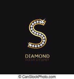 Golden Letter S