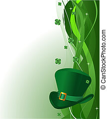 Spring background - St Patrick's Day background with copy...