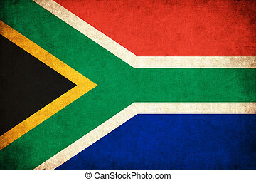 South Africa grunge flag illustration of country