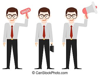 Business man charector design vector set