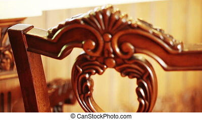 Carved pattern on wood - In house on furniture carvings
