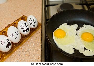 huevos, cocina