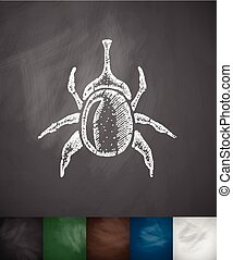 beetle icon. Hand drawn vector illustration