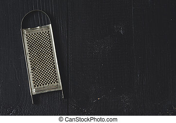 aged old rustic grater