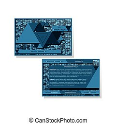 Modern business card template with triangles pattern Vector...