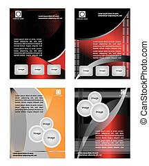 Set collection of flyer design