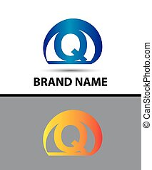 Alphabetical Logo Design Concepts Letter Q