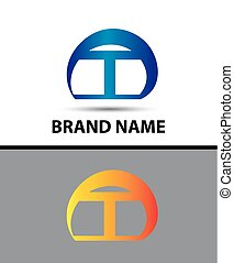 Alphabetical Logo Design Concepts Letter T