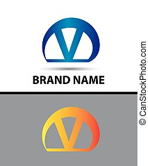 Alphabetical Logo Design Concepts Letter V