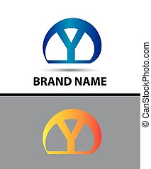 Alphabetical Logo Design Concepts Letter Y