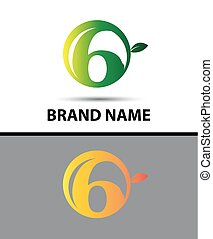 Vector sign Eco number 6 logo