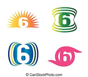 Number six 6 logo icon