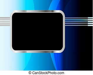 Blue background vector overlap dimension on white background...