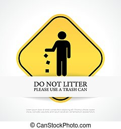 No littering sign - No littering vector sign