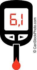 High sugar level symbol - High sugar level, diabetes symbol