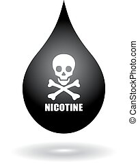 Nicotine icon - Nicotine drop icon isolated on white...