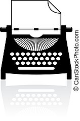 Type writer icon - Type writer vector icon