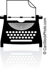 Type writer icon - Type writer vector icon
