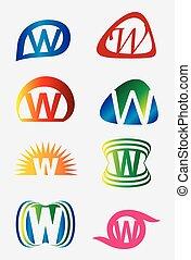 Set of alphabet W symbols