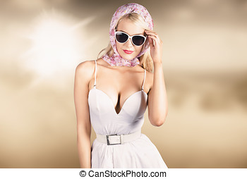 High class female fashion model with grace - High class...