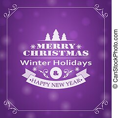 Merry Christmas Wishes, Typography Design