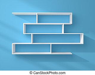 3d rendered modern shelves. - 3d rendered composition of...