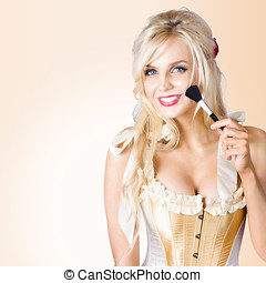 Blond beauty. Performing arts makeup model - Young blonde...