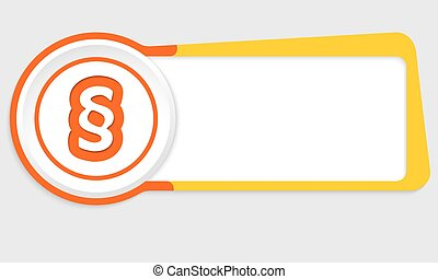 Vector abstract button for your text and paragraph