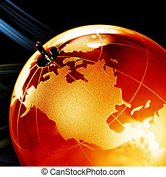 Earth planet,Transparent globe for background Close up