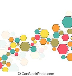 Color molecular structure on the white background
