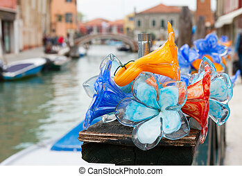 Old town of Murano, Italy - traditional glass in old town of...
