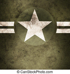 Military army star background - Grunge design of a military...