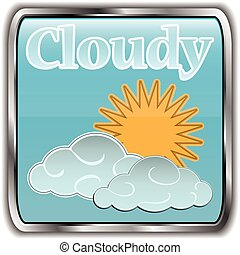 Day weather icon with text Cloudy.