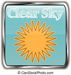 Day weather icon with text clear sky