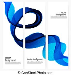 Abstract template vertical banner with transparent smoke