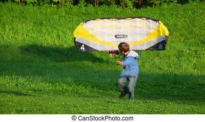Starting a kite