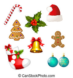 Set of Christmas icons - Clipart co