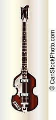 Violin Style Bass Guitar - A typical violin style electric...