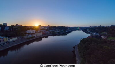 Sunrise at the most emblematic area of Douro river timelapse...