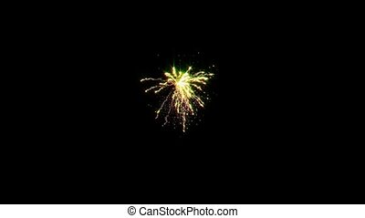 Loopable firework background animation - pyrotechnic, roman...