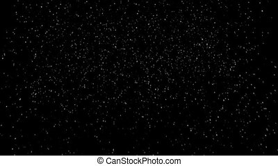 Snow at night, loopable - Snow on black background, loopable...