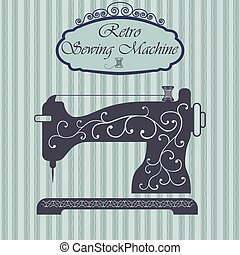 Retro sewing machine