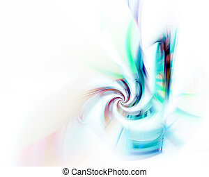 Abstract Fractal Twirl - A blue spiral fractal design that...