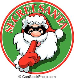 Secret Santa - A vector illustration of a Secret Santa logo.