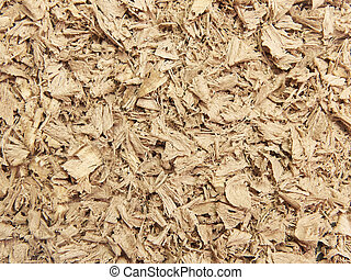 Sawdust - Closeup image of a big pile of wooden sawdust
