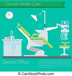 Dentist office flat design Vector